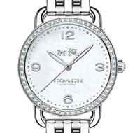 【COACH】個性時尚三眼休閒風格女腕錶/銀白x白膠/38mm(14502477)