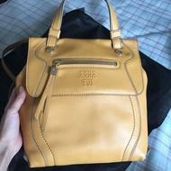 百貨專櫃購入ANNA SUI 正品 春漾芥末黃 手提包 單肩包 後背包