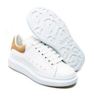【Go時尚】Alexander MCQueen 棕尾 麂皮 小白鞋 厚底鞋 麥昆鞋