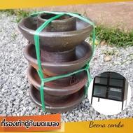 ที่รองขาตู้ ที่รองเท้าตู้ ถ้วยรองเท้าตู้ใส่น้ำได้ จานรองขา ที่รองเท้าตู้กันมดแมลงขึ้นตู้กับข้าวที่บ้านครัวเรือน ทนกว่าพลาสติกมาก ไม่กรอบพังไม่พังง่าย (เซต 4 ชิ้น) ใน 1 มัด