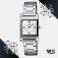Casio นาฬิกาผู้หญิง สีเงิน สายสแตนเลส รุ่น LTP-1237D-7ADF