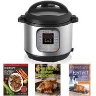 Instant Pot IP-DUO60 7-in-1 Programmable 6-Quart/1,000-Watt Pressure Cooker and Book Collection Bundle - intl