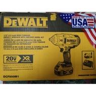 DCF899M1 全新套裝 得偉 美版  DeWALT  四分 DCF899  4.0電池 約為950牛頓米