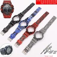 นาฬิกาอุปกรณ์เสริมเรซิ่นสายคล้อง16MmสำหรับCamouflage Casio G-Shock GLS GD GA110 GA100 GD120ผู้ชายและผู้หญิงกีฬานาฬิกา