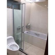 淋浴緩衝拉門 浴室拉門 玻璃門 乾濕分離 玻璃工程 五金配件 台灣製造MIT