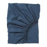 ULLVIDE 雙人床包(150x200 公分), 深藍色