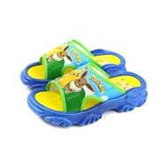 寶可夢 Pokemon 皮卡丘x伊布 拖鞋 防水 童鞋 藍色 中童 PA1772 no808