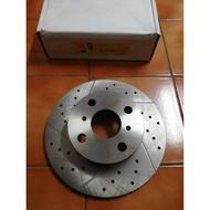 TOYOTA 豐田 TERCEL 1.3/1.5 煞車盤 前盤 前碟盤 劃線盤 鑽孔劃線盤 台製品 外銷件 YDL