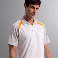 【Sunrise】77121純白搭配灰袖★吸濕排汗短袖POLO男版襯衫