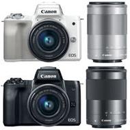 Canon EOS M50 15-45mm+55-200mm 雙鏡組(公司貨).-送Micro 128G+專用電池(LP-E12)+專用相機包+保護鏡(49)+保護鏡(52)+吹筆組+保護貼