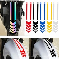 Reflective Car Stickers Arrow Line Motorcycle Fender Decoration Car Stickers Warning Reflective