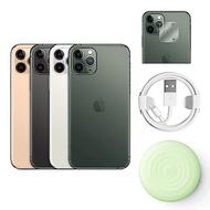 Apple超值組-iPhone11 Pro Max 256G+無線充電板+充電線+鏡頭保貼