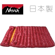Nanga 日本製 羽絨睡袋 雙人睡袋/露營睡袋/羽絨被 RABAIMA Bag W 400 紅色 21440