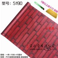 防水自粘磚塊紅色磚墻紅磚塊墻磚背景即貼墻紙墻貼。74157