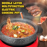 Korean Electric Cooker Medical Stone Steamboat Hot Pot BBQ Grill Pan