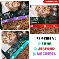 9.9 FREE GIFT YooMart 7KG ORIGINAL TESCO CAT FOOD ADULT CAT COMPLETE DRY FOOD TESCO Seafood Mackerel Tuna Flavor Makanan Kucing Tesco