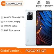 POCO X3 GT 5G 8GB + 128GB/8GB + 256GB NFC Global Version เวอร์ชันสากล MTK 1100 67W 6.6 ''120Hz 5000mAh 64MP Triple กล้องสมาร์ทโฟน