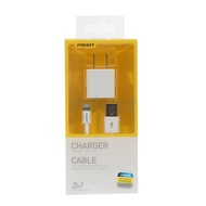 Adapter (1A) USB Charger +Lightning Cable (TS-C051+AL01-1000) 'PISEN' White (( Adapter/Coverter ))