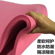 現貨 瑜伽墊 防滑 健身墊 特價瑜伽墊100 20mm厚加厚加寬加長初學者女防滑健身膠墊微瑕疵