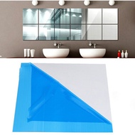 15cm*15cm 9pcs/Set square mirror mirror film wall stickers adhesive decoration