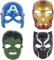 Wenime Hero Mask Children's­ Boys' Girls Costume Great Masks 4Pcs /Hulk /Iron-Man /Captain America /Black Panther