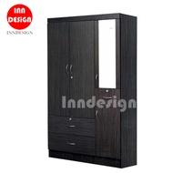 Averlle 3 Doors Wardrobe / Standalone Wardrobe / Open Wardrobe / Drawer / Mirror
