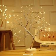 星串星led銅線燈圓球小樹燈圣誕房間裝飾布置彩燈閃燈串燈滿天星 現貨快出