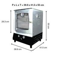 Aluminum gas hock oven 3-tier portable gas oven