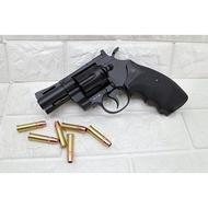 KWC 2.5吋 左輪 手槍 CO2槍 強化版 + CO2小鋼瓶 + 奶瓶 ( 轉輪手槍牛仔PYTHON M357左輪槍