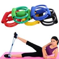 8-Shape สายยืดมีแรงต้านออกกำลังกายโยคะรองเท้ายางยืดอุปกรณ์ออกกำลังกายเชือก