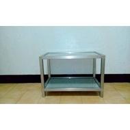 二手家具 兩層鋁櫃 置物櫃 收納櫃 直播 商品展示桌