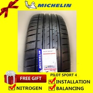 Michelin Pilot Sport PS4 tyre tayar tire(With Installation) 205/50R16 205/45R17 225/40R18 235/40R18 235/45R18 245/40R18 205/55R16 215/45R17 225/45R17 245/45R17 215/55R17 235/45R18 265/35R18 255/40R18 225/45R18 255/35R18 245/45R18 245/45R19 235/45R17