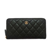 กระเป๋าสตางค์ CHANEL ZIPPY WALLET BLACK CAVIAR GHW [MCA50097GHWBLK]