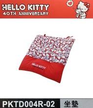 權世界@汽車用品 Hello Kitty 40TH 週年系列 座椅墊 坐墊 PKTD004R-02