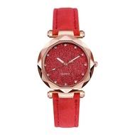 ใหม่แฟชั่นสุภาพสตรีแฟชั่นพลอยเทียมเกาหลีทองคำสีกุหลาบนาฬิกาควอตซ์เข็มขัดหญิงนาฬิกา <ต่ำสุดราคา COD ส่งเร็ว>