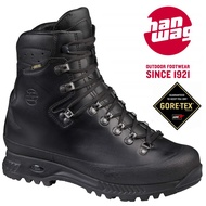【Hanwag 悍威 德國】ALASKA WIDE GTX 皮革健行登山鞋 寬楦款 男款 黑色 (23036-12)