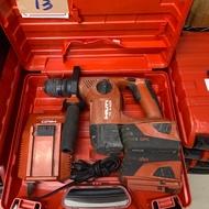 二 手 喜利得 HILTI TE4-A22 22V 震動鎚鑽 電動鎚鑽整組 充電式 免出力 13