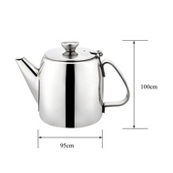 Dolity Stainless Steel Stainless Steel Teapot Cold Water Kettle Handle Silver 500ml