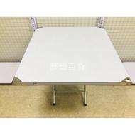 3尺*3尺白鐵桌 白鐵不鏽鋼製桌 折疊桌 白鐵桌 活動桌 收納桌 小吃店 餐廳用 桌子 茶几(依凡卡百貨)
