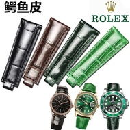 American crocodile leather strap suitable for Rolex green water ghost ROLEX Daytona submariner bracelet 20