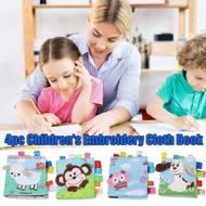 【Educational Toys】4PCs Baby Books Soft Baby Bath Books Crinkle Educational Book