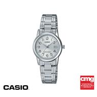 [ของแท้] CASIO นาฬิกาข้อมือผู้หญิง ระบบอะนาล็อก รุ่น LTP-V002D-7BUDF นาฬิกา นาฬิกาข้อมือ นาฬิกากันน้ำ สายสแตนเลส