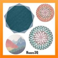 幾何造型地墊地毯床邊墊床邊地毯圓形地毯圓形地墊80CM簡約風-多款【AAA5191】
