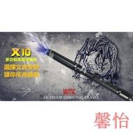 馨怡【性致蕩漾】黑鷹-X10 五檔超強光照明 耐敲打 可伸縮 高壓強光手電筒