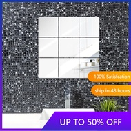6pcs Soft Mirror Sticker Wall Self-adhesive Wallpaper Acrylic Mirror Full Body