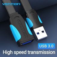 Vention USB Extension Cable 2.0 Male to Female Cable USB 3.0 Cable สายชาต Extender สายชาร์จ huawei oppo samsung for Laptop PC Smart TV PS4 Xbox สายชาร์จเร็ว One SSD USB to USB ที่ถนอมสายชาต