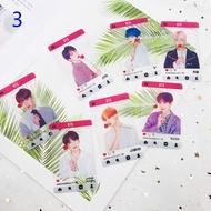 KPOP BTS Bangtan Boys New Album Transparent Card Photocards JIMIIN V