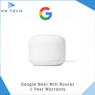 [Authorised Partner] Google Nest WiFi Router (2nd Generation) – Mesh Wi-Fi Router with 2200 Sq Ft Coverage Comes with 3pin plug (SG Safety Mark)