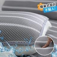鴻宇 涼墊枕蓆 枕墊2入 水洗6D透氣循環枕墊 可水洗 矽膠防滑