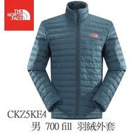 【登山屋】The North Face 男 700 fill 羽絨外套 灰藍 CKZ5KE4
